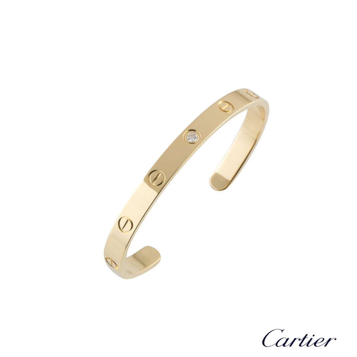 Cartier Love Cuff Diamond Bracelet Size 16 B6029816